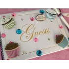 Baby Shower Cupcakes Theme 3D Guest Book for Birthday Sweet 16 Wedding Idea