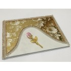 Gold and White Guest Book with Pink Rose For All Party Occasions Birthday Wedding Sweet 16
