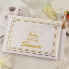 Silver or Gold Baby Shower Leave Some Joy Guest Book Signature Book Keepsake Gift