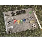 Soccer Footballer Birthday Party Guest Book Boys Girls Signature Book