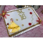 Sweet 16 Guest Book with Letter Belle Beauty and The Beast Birthday Keepsake Gift