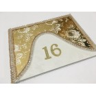 Sweet 16 Elegant Gold and White Rhinestone Guest Book Signature Keepsake