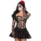 Day of the Dead Girl Ruched Gloves Halloween Costume Accessory