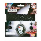 Day of the Dead Girl Cameo Choker Halloween Costume Accessory Party Favor