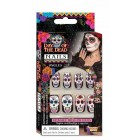 Day of the Dead Girl Nail Decal Halloween Costume Accessory Party Favor