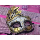 Masquerade Venetion Style Party Black and Gold Mask Halloween Mardi Gras