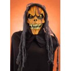 Hooded Pumpkin Monster With Large Teeth Adult Halloween Horror Mask
