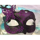 Black & Purple Butterfly Masquerade Venetian Mask Halloween Gift Keepsake
