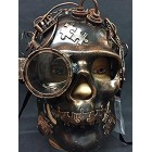 Bronze Steampunk Skull Mask Halloween or Fantasy Theme Decorations Gift Keepsake