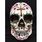 Cross Design Day of the Dead Skull Mask Halloween Theme Decorations Gift Keepsake
