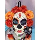 Floral Design Day of the Dead Skull Girl Mask Halloween Decorations Gift Keepsake