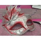 Masquerade Venetion Style Party Red Mask Halloween Mardi Gras