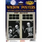Giant Halloween Skeleton Window Poster 2 Pack Decorations