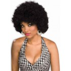 Black Afro Wig Circus Retro Disco Halloween Adult Costume Accessory