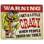 Crazy Tools Embossed Tin Sign Garage Media Theater Wall Decoration