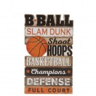 Basketball Words Wood Wall Decoration Boys Room Kids Decor