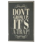 Don't Grow Up Framed Wall Art Home Decoration Theater Media Room Office
