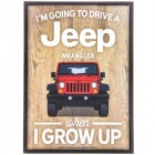 Going To Drive A Jeep Wood Wall Decor Wall Decoration for Kids Room