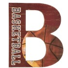 Basketball Letter B Wood Wall Decoration Boys Room Kids Decor