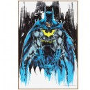 Batman Illustration Wood Wall Art Home Decoration Theater Media Room Man Cave