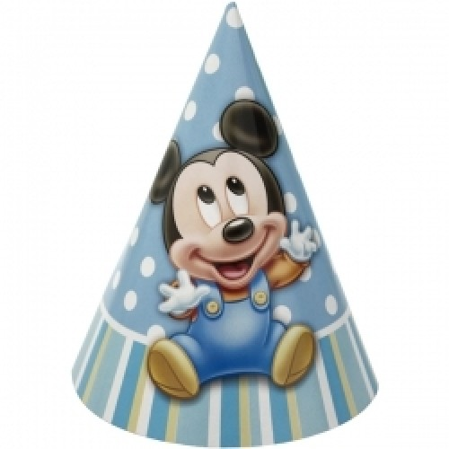 Mickey Mouse 1st Birthday Party Hats 8 Ct