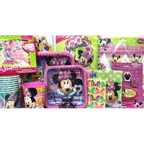 Minnie Mouse Bowtique Birthday Party Supplies Package Kit