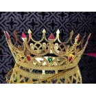 Queen Princess Gold or Silver Color Plastic Crown for Birthday Theater Play Dress-up Prom