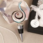 Swirl Shaped Arte Murano Bottle Stopper for All Wedding Sweet 16 Birthday