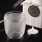 Classique Hobnail Glass Candle Holder