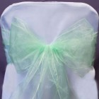 Organza Fabric Chair Bow Sash Mint Green