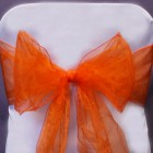 Organza Fabric Chair Bow Sash Orange