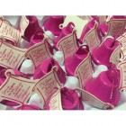 Kissing Wedding Bells Celebration Bells Favor Fuchsia 24 Ct
