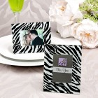 Zebra Print Place Card Holder Picture Frame Favors