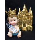 Baby Boy Prince with Gold Castle Favor