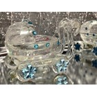 8 Glass Baby Shower Stroller Carriage Blue Boy Favor Keepsake