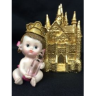 Baby Girl Prince with Gold Castle Favor
