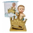 "Baby Shower Party Favor Boy Prince Figurines Keepsake Decoration 3"" H"