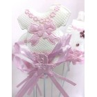 Baby Shower Baby Garment Favor Pick Cake Decoration 12 Ct Pink