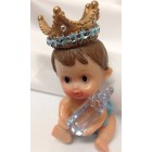 Prince Rhinestone Crown Baby Shower Favor
