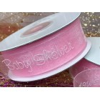 Baby Shower Girl Pink Organza Ribbon 25 Yards Roll Craft Party Supplies