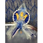 Baby Shower Royal Blue Baby Prince Crown Badge