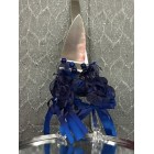 Wedding Cake Knife and Server with Organza Flower