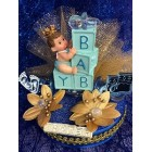Baby Shower Prince Centerpiece Cake Topper Decoration