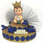 Baby Shower Boy Prince Cake Topper Centerpiece Decoration