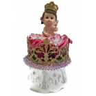 "Baby Shower Crown Princess Baby Girl Cake Topper Centerpiece Decoration 8"" H"