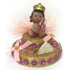 Baby Shower Ethnic Princess Girl Cake Topper Centerpiece Decoration