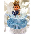 Baby Shower Prince Boy with Bottle Centerpiece Cake Topper