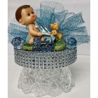 "Baby Shower Baby Boy With Baby Bottle Cake Topper Centerpiece Decoration 4"" W"