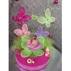 Ethnic Baby Girl Butterflies Baby Shower Cake Topper Centerpiece Decoration