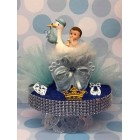 Baby Boy or Girl Inside Plastic Stork Baby Shower Cake Topper Centerpiece